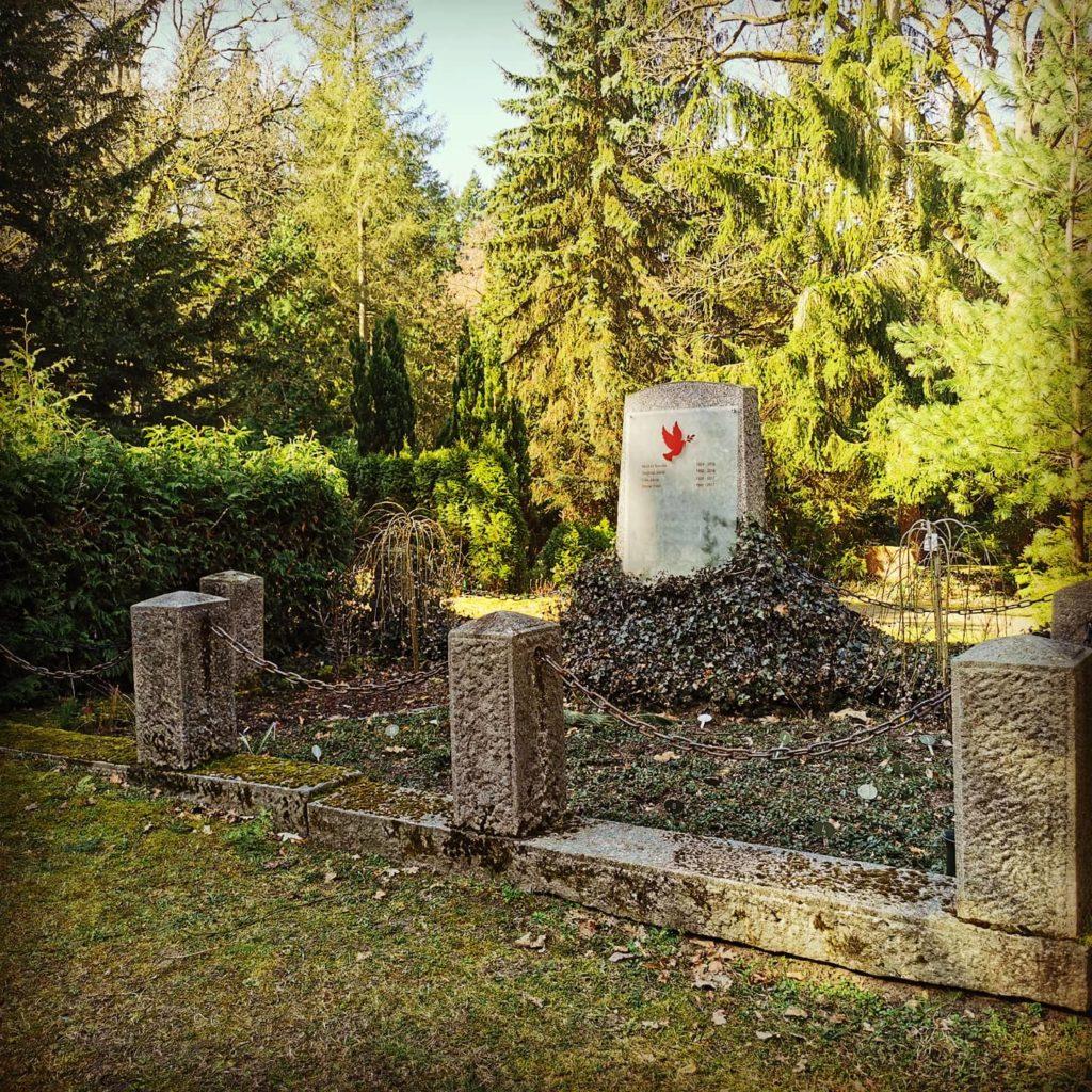 Historische Grabstätte Waldfriedhof Eberswalde, Urnengrabstätte für Feuerbestattung / Urnenbestattung